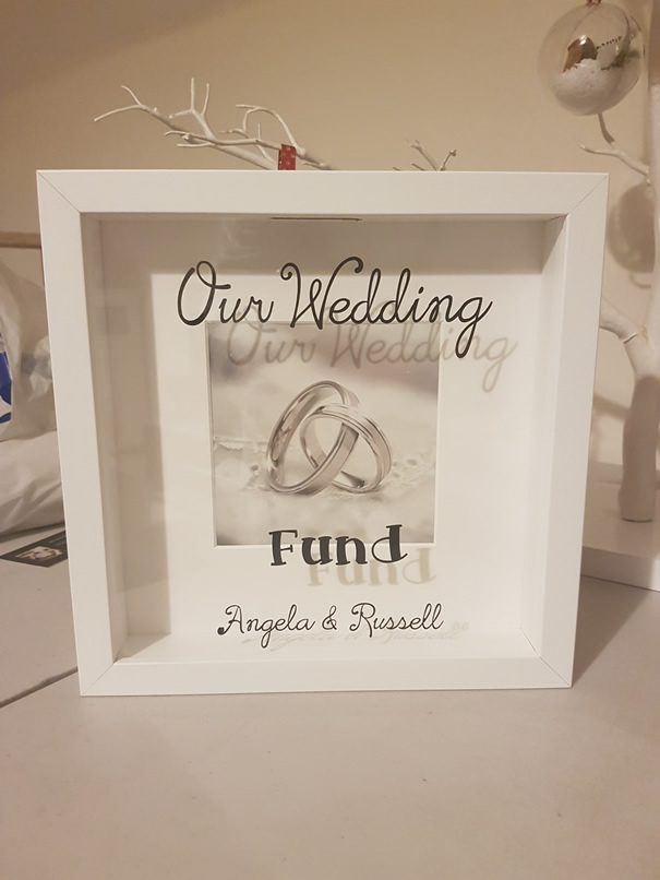 Our Wedding Fund Money box frame