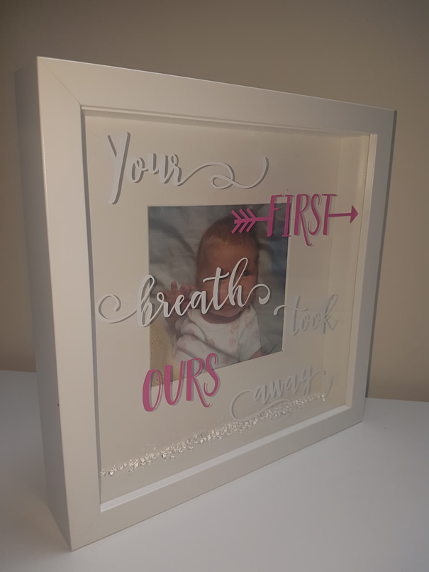 Your First Breath Frame - Pink