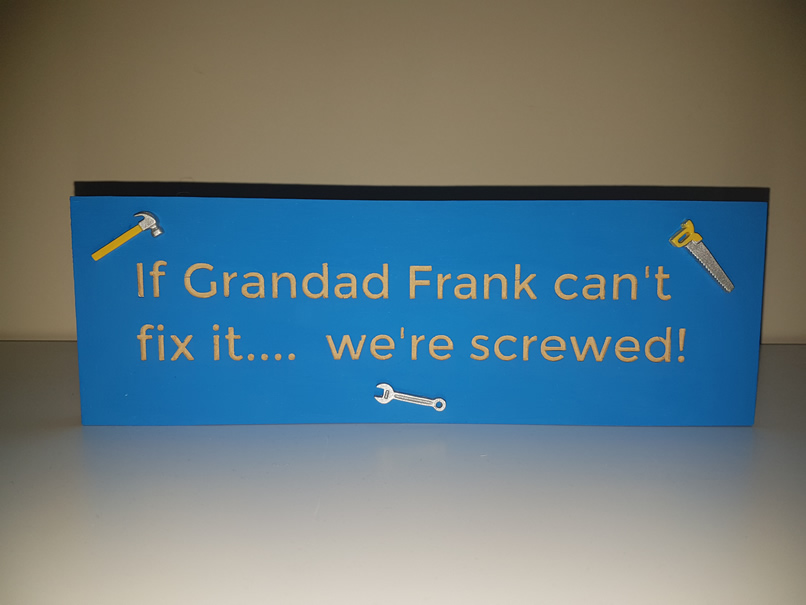 Freestanding Fix it sign