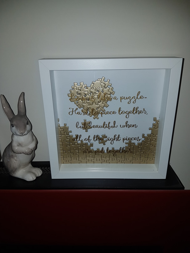 Love Puzzle Box Frame